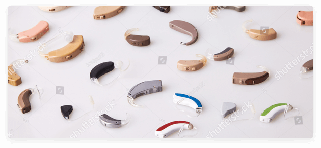 display of hearing aids